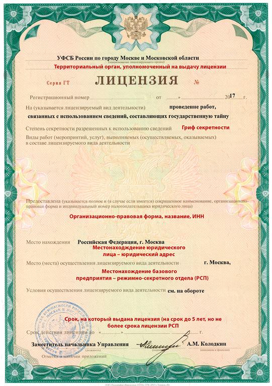 Лицензия на государственную тайну